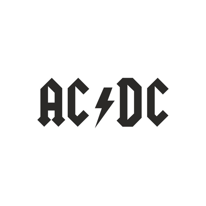 Sticker adhésif AC DC