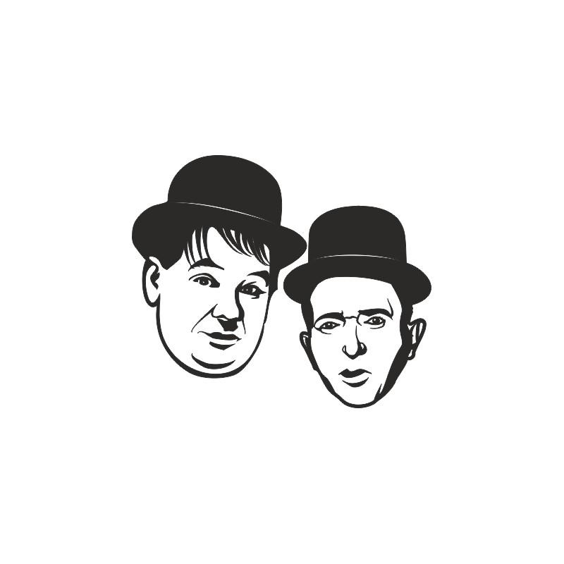 Sticker vinyl Laurel et Hardy