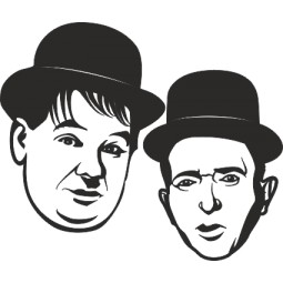 Sticker vinyl Laurel et Hardy