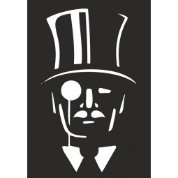 Sticker vinyl Gentleman cambrioleur