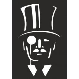 Sticker vinyl Gentleman cambrioleur