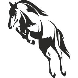 Sticker vinyl adhésif saut de cheval