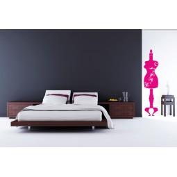 Sticker mural mannequin