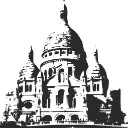 Sticker mural Montmartre