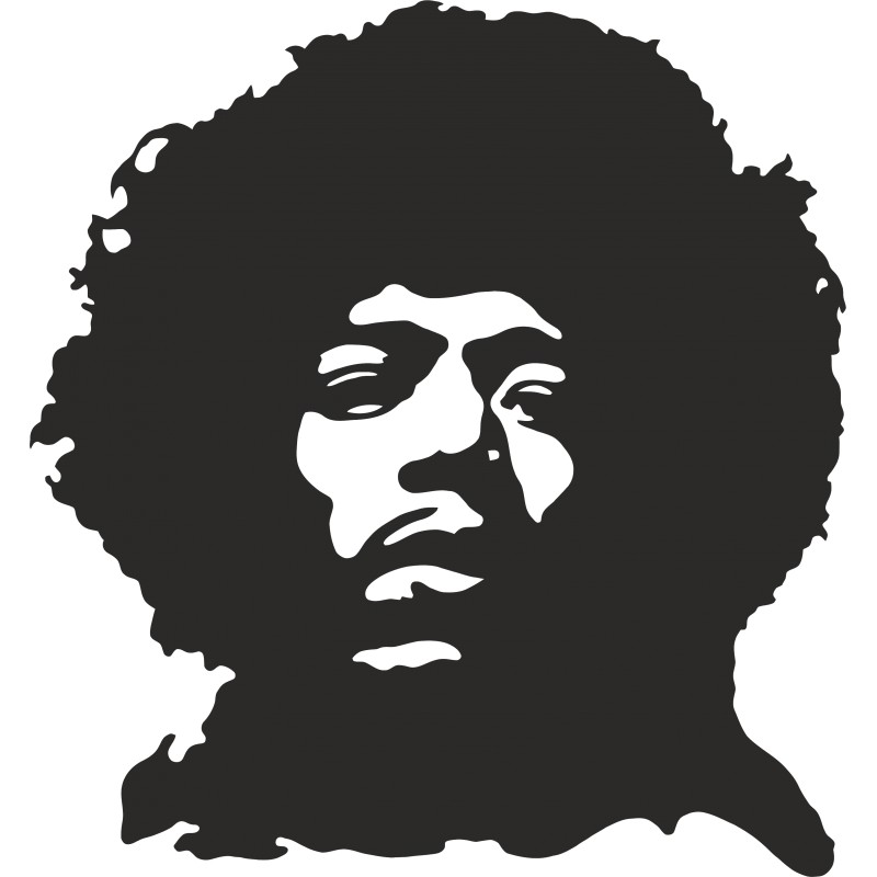 Sticker vinyl Jimmy Hendrix