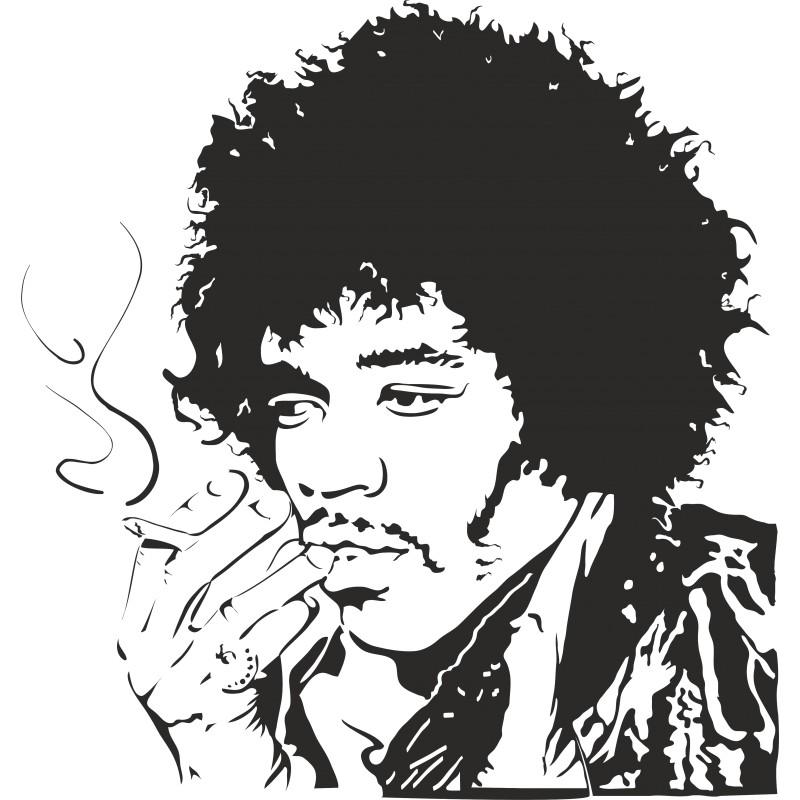 Sticker mural Jimmy Hendrix