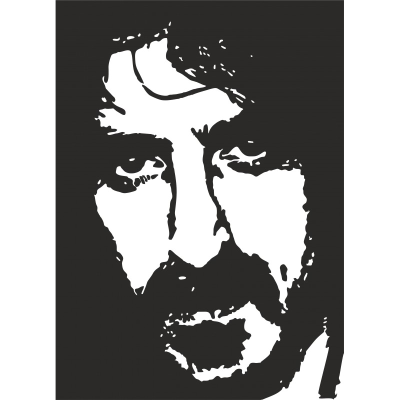 Sticker décoration Franck Zappa