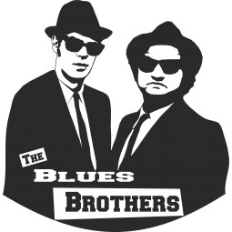 Sticker vinyl Blues Brothers