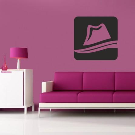 Sticker décoration logo chapeau