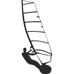Sticker déco Windsurf