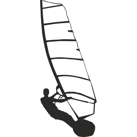 Sticker déco Windsurf