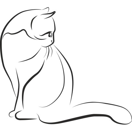 Sticker adhésif silhouette chat