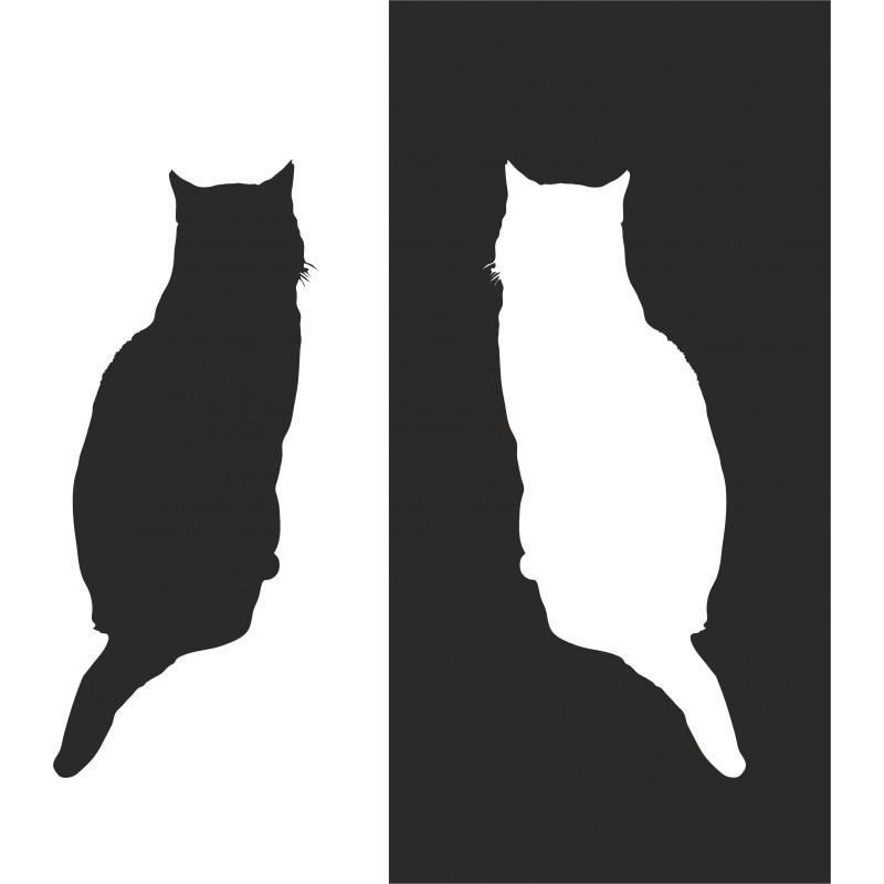 Sticker mural chat et son ombre