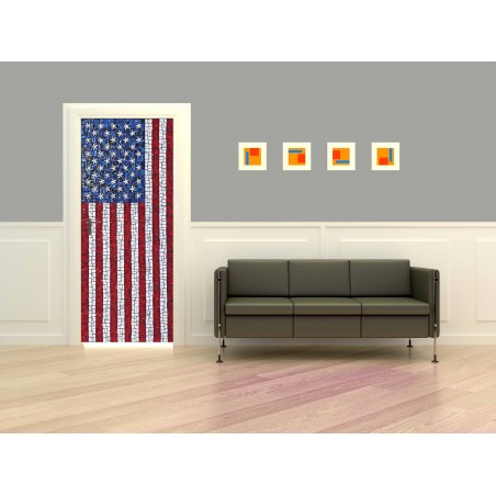 Stickers porte US Flag