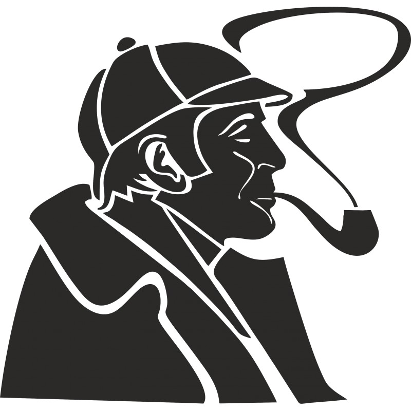 Sticker Sherlock Holmes l'original