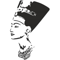 Sticker vinyl Nefertiti