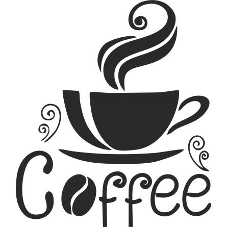 Sticker décoration Coffee