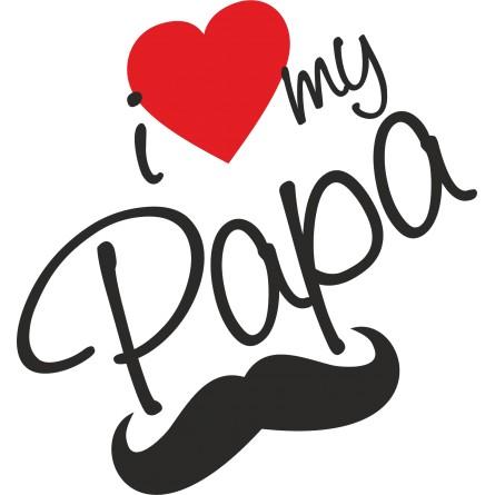 Sticker vinyl adhésif I love my Papa