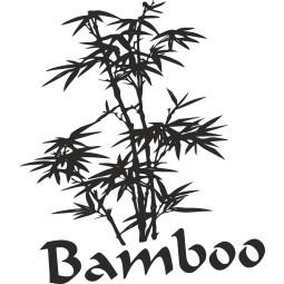 Sticker adhésif bambous