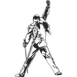 Sticker mural Freddy Mercury
