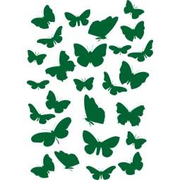Sticker décoration planche papillons