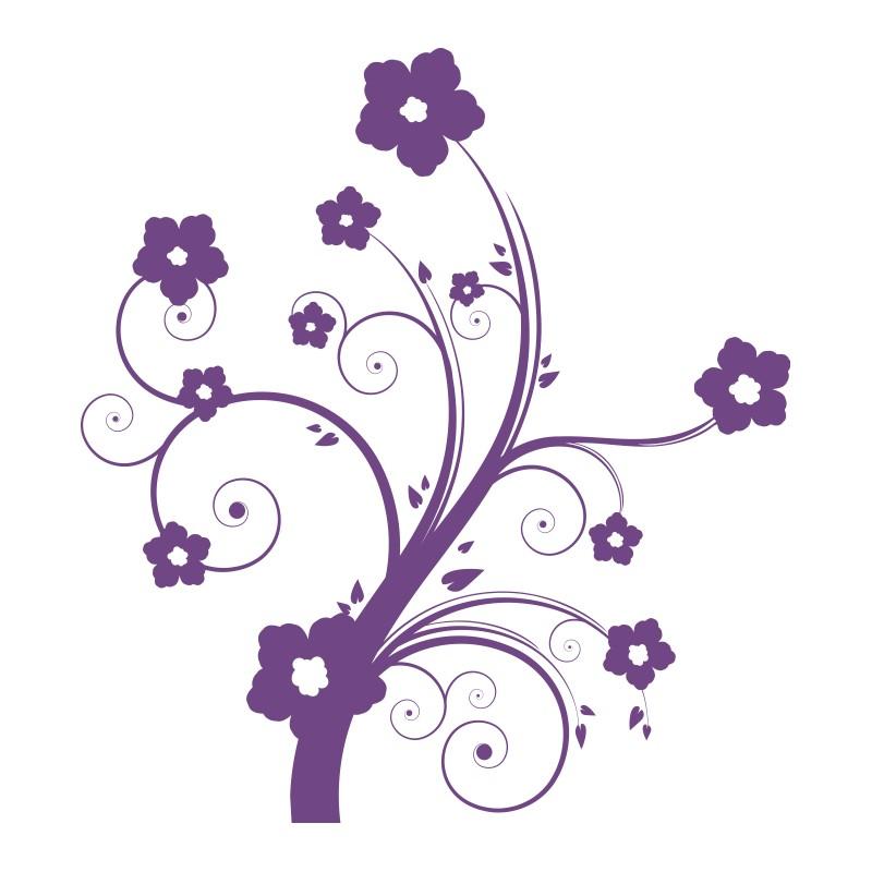 Sticker vinyl adhésif fleurs