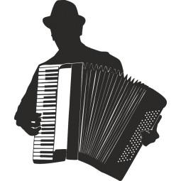 Sticker adhésif accordeoniste 2
