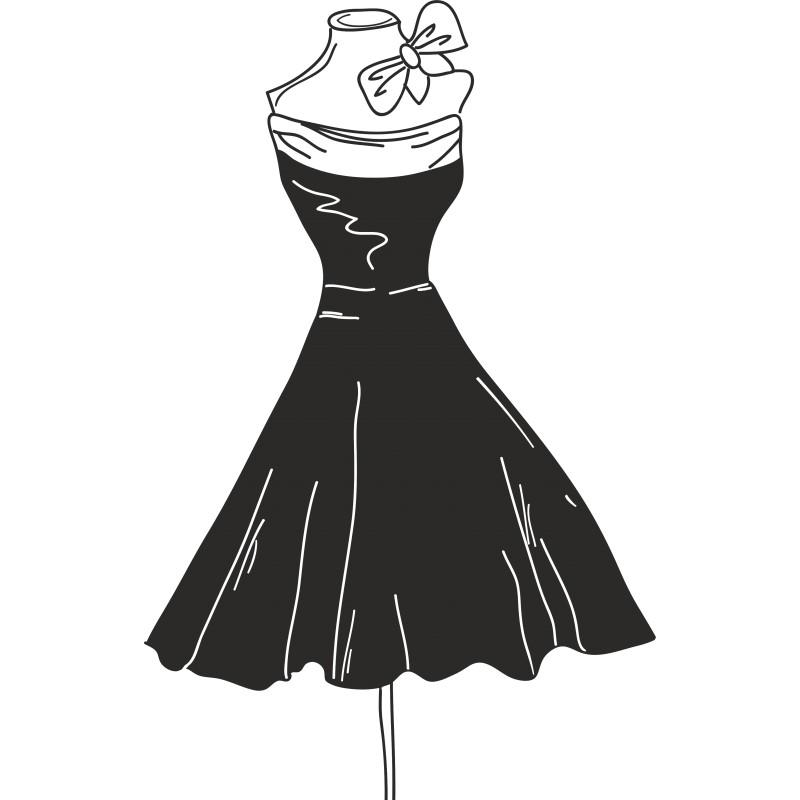 Sticker décoration petite robe