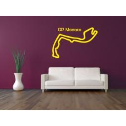 Sticker déco circuit de Monaco
