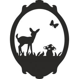 Sticker mural miroir forêt