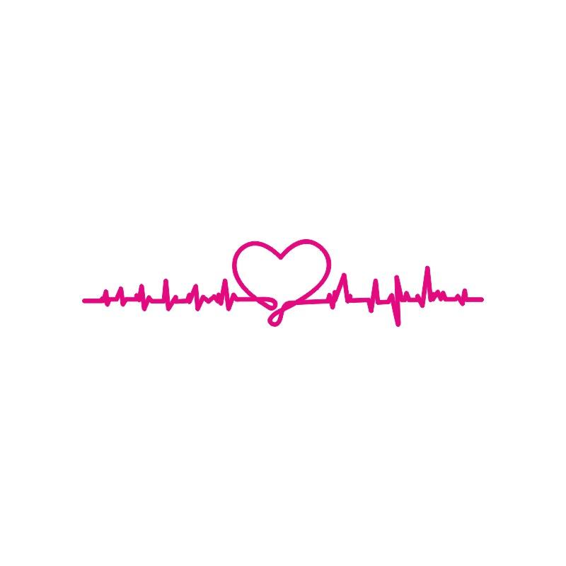 Sticker décoration adhésive ligne de coeur