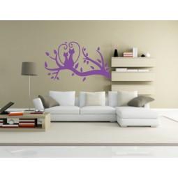 Sticker décoration murale chats amoureux