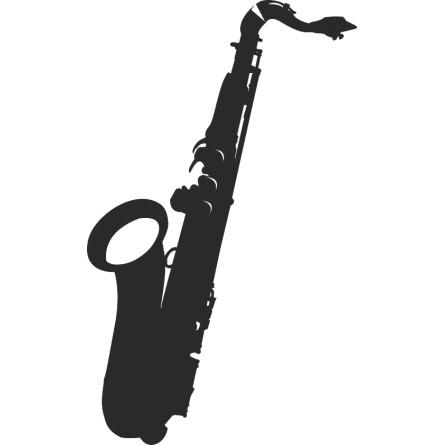 Sticker décoration adhésive saxophone