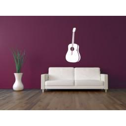 Sticker vinyl déco guitare classique