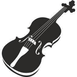 Sticker deco adhésive violon