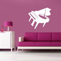 Sticker décoration piano