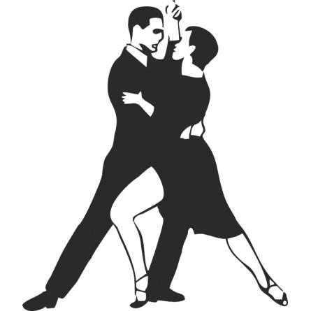 Sticker vinyl les danseurs