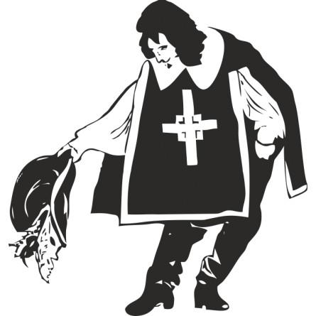 Sticker adhésif chevalier mousquetaire