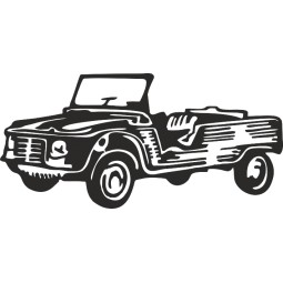 Sticker vinyl citroen Mehari