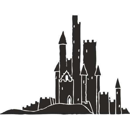 Sticker décoration chateau fort