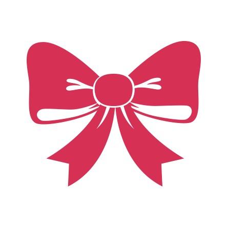 sticker noel noeud de cadeau
