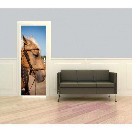 Décoration porte intérieure tête de cheval