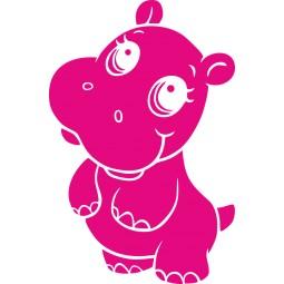 Sticker adhésif bébé hippo