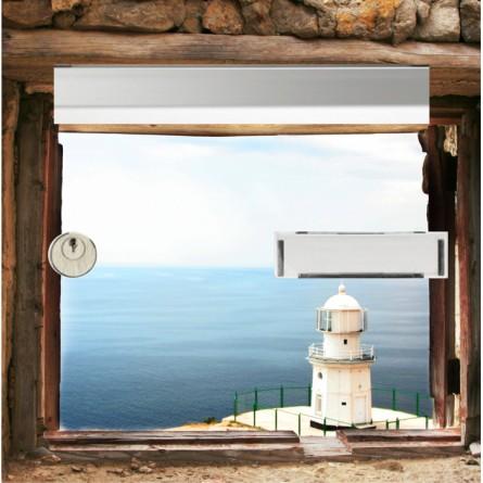 sticker boîte au lettre vue sur mer