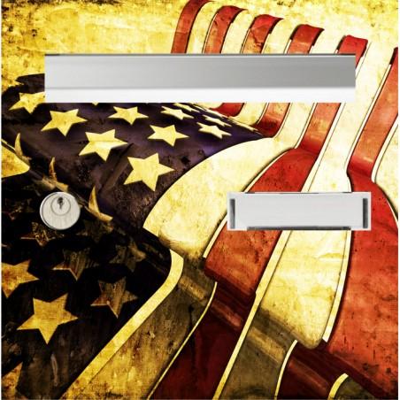 sticker boîtes aux lettres drapeau US