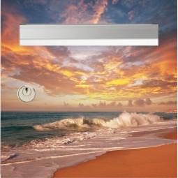 sticker boîte aux lettres plage et soleil