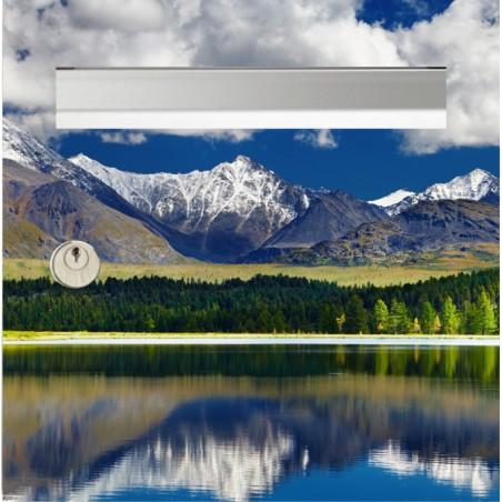 Sticker boîte aux lettres lac de montagne
