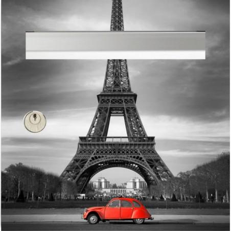 sticker boîte aux lettres 2cv Tour Eiffel