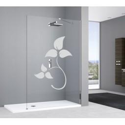 Déco vitre salle de bain feuilles 3
