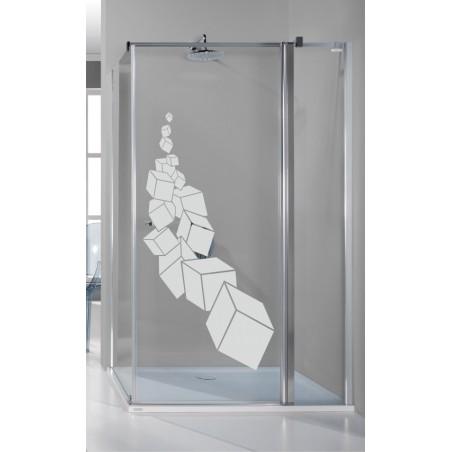 Autocollant de douche les cubes